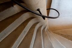 A spiral staircase at Ecouen